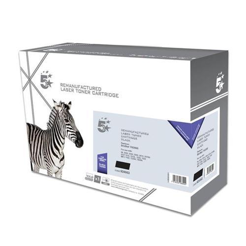 5 Star Office Remanufactured Laser Toner Cartridge Page Life 2500pp Black [Brother TN2000 Alternative]   924663