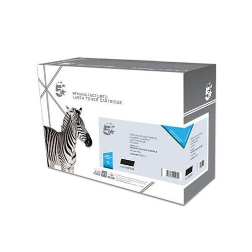 5 Star Office Remanufactured Laser Toner Cartridge 6000pp Black [HP No. 55A CE255A Alternative] | 932338