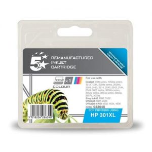 5 Star Office Remanufactured Inkjet Cartridge Page Life 330pp Colour [HP No. 301XL CH564EE Alternative]   933648