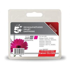 5 Star Office Remanufactured Inkjet Cartridge Page Life 545pp Magenta [Canon CLI-526M Alternative]   933767