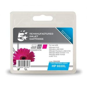 5 Star Office Remanufactured Inkjet Cartridge Page Life 925pp Magenta [HP No. 933XL CN055AE Alternative] | 934436