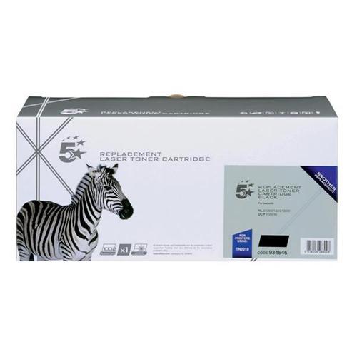5 Star Office Remanufactured Laser Toner Cartridge Page Life 1000pp Black [Brother TN2010 Alternative]   934546