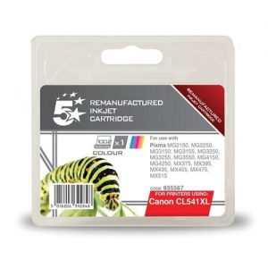 5 Star Office Remanufactured Inkjet Cartridge Page Life 400pp Tri-Colour [Canon CL-541XL Alternative] | 935567