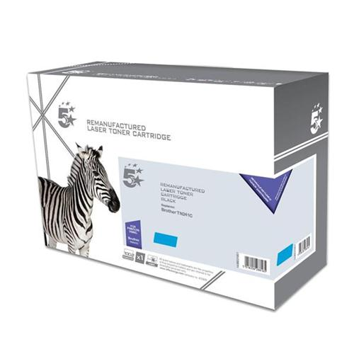 5 Star Office Remanufactured Laser Toner Cartridge Page Life 1400pp [Brother TN241C Alternative] Cyan | 938306