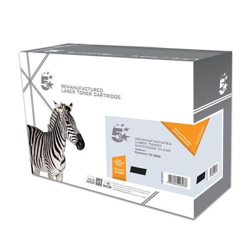 5 Star Office Remanufactured Laser Toner Cartridge Page Life 5000pp Black [Kyocera TK-590K Alternative] | 938334