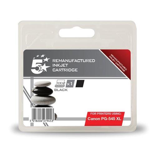 5 Star Office Remanufactured Inkjet Cartridge [Canon PG-545XL Alternative] Black   938384