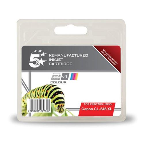5 Star Office Remanufactured Inkjet Cartridge [Canon CL-546 XL Alternative] Colour | 938403