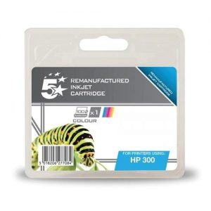 5 Star Office Remanufactured Inkjet Cartridge Page Life 165pp Colour [HP No. 300 CC463EE Alternative] | 938454