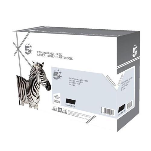 5 Star Office Remanufactured Laser Toner Cartridge Page Life 3500pp Black [Lexmark E260A11E Alternative] | 939135
