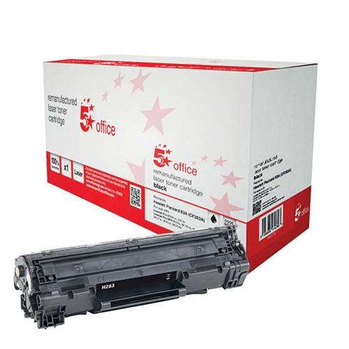 5 Star Office Remanufactured Laser Toner Cartridge Page Life 1500 Black [HP No. 83A CF283A Alternative]   940511