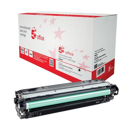 5 Star Office Remanufactured Laser Toner Cartridge Page Life 13500pp Black [HP 650A CE270A Alternative]   940708