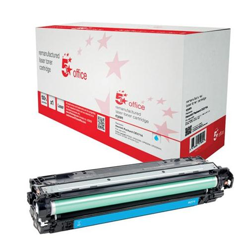 5 Star Office Remanufactured Laser Toner Cartridge Page Life 15000pp Cyan [HP 650A CE271A Alternative] | 940712