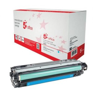5 Star Office Remanufactured Laser Toner Cartridge Page Life 7300pp Cyan [HP 307A CE741A Alternative] | 940732