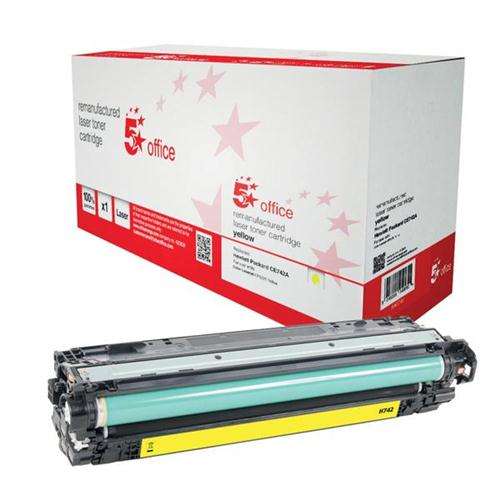 5 Star Office Remanufactured Laser Toner Cartridge Page Life 7300pp Yellow [HP 307A CE742A Alternative]   940740