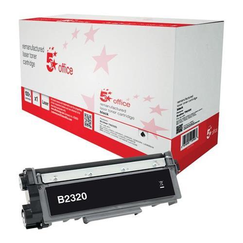 5 Star Office Remanufactured Laser Toner Cartridge Page Life 2600pp Black [Brother TN2320 Alternative]   942259