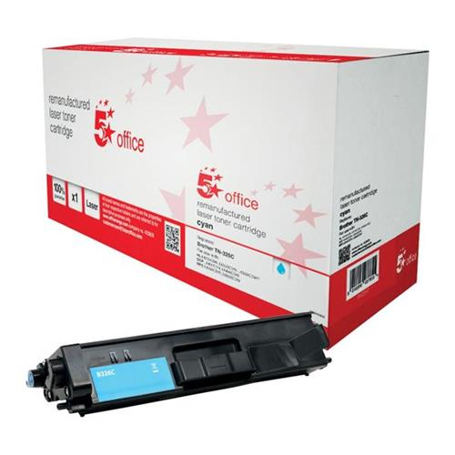 5 Star Office Remanufactured Laser Toner Cartridge Page Life 3500pp Cyan [Brother TN326C Alternative]   942267