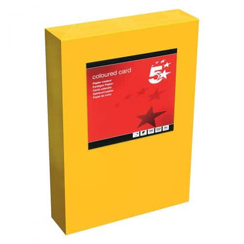 5 Star Office Coloured Card Tinted 160gsm A4 Deep Orange [Pack 250]
