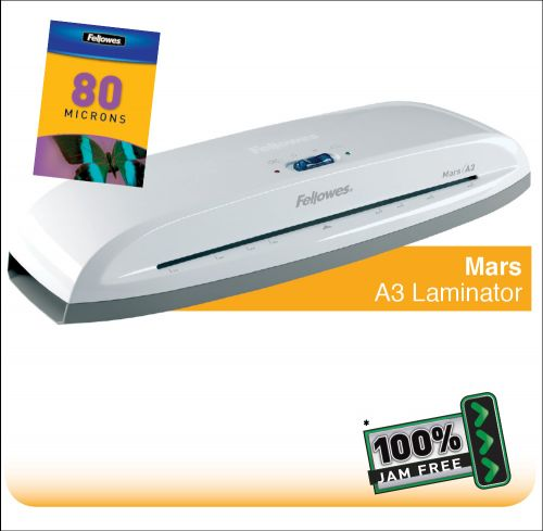 Fellowes Mars A3 Home and Personal Laminator with 100% Jam Free* Mechanism  