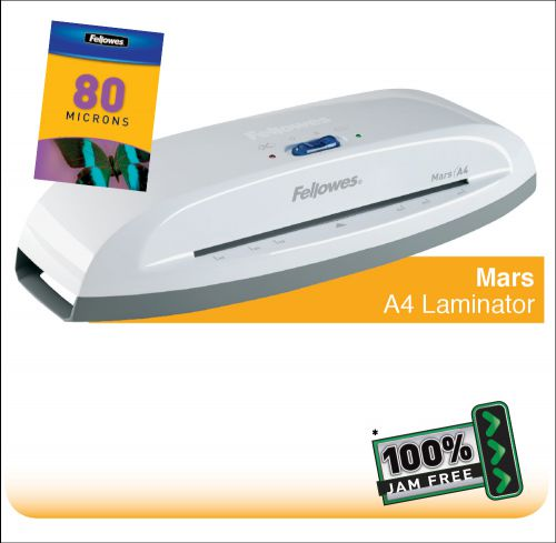 Fellowes Mars A4 Home and Personal Laminator with 100% Jam Free* Mechanism  
