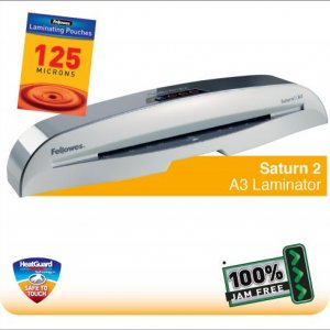 Fellowes Saturn 2 A3 Small Office Laminator with 100% Jam Free* Mechanism and HeatGuard  