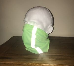 Face Covering with Reflective Strip